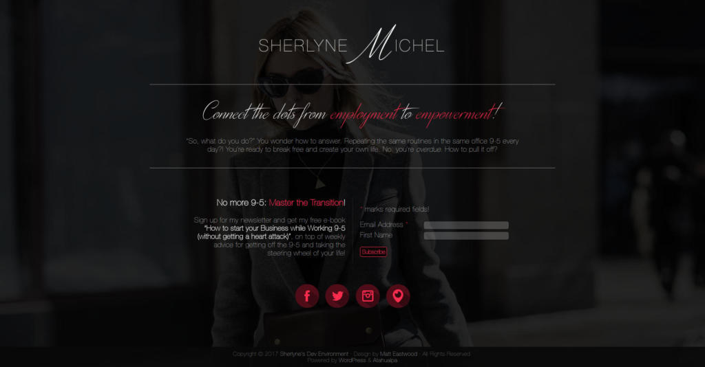 Website Showcase: Landing page draft for Sherlyne Michel » Web Design · Communication · Storytelling » Brand Artery