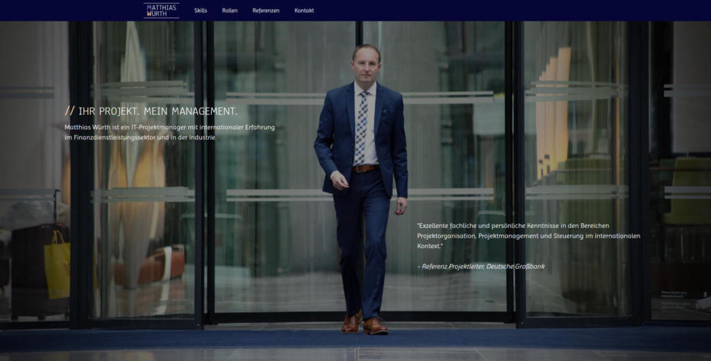Website Showcase: Matthias Würth » Web Design · Communication · Storytelling » Brand Artery