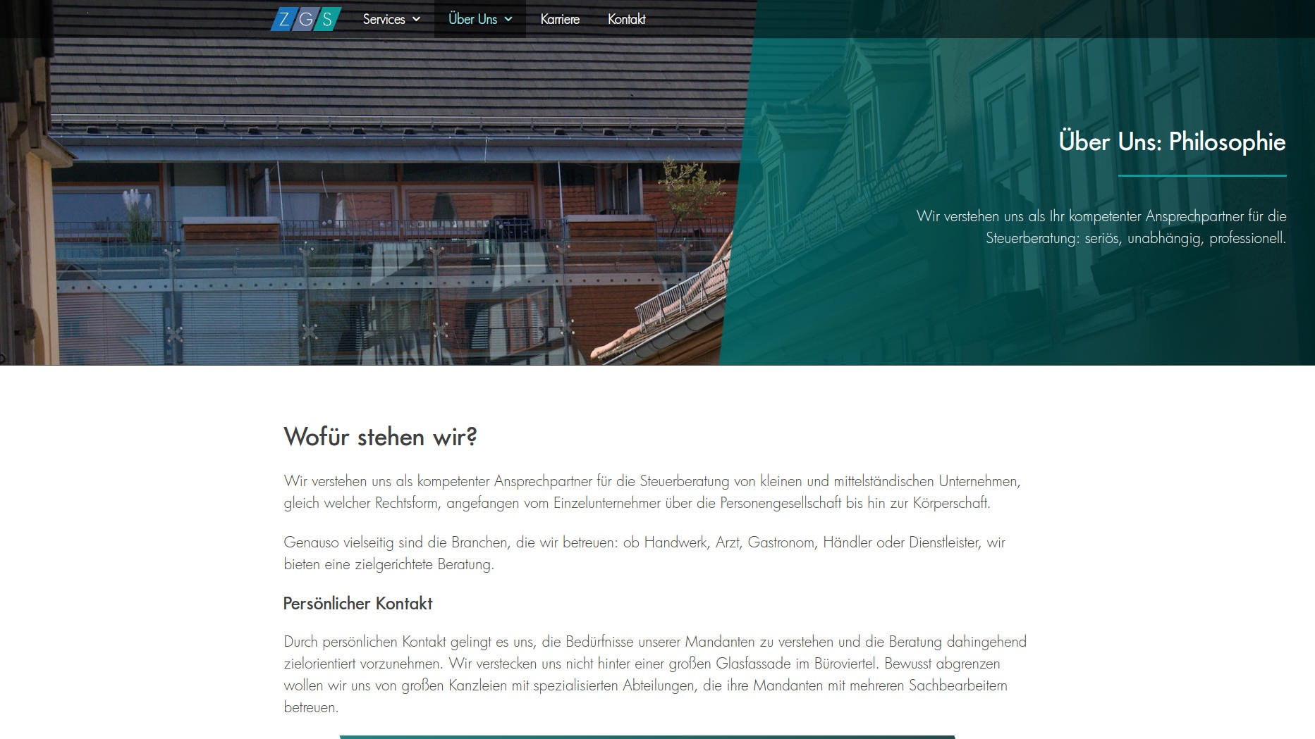 Website Showcase: Zerhau · Gieseke · Sickel » Web Design · Communication · Storytelling » Brand Artery