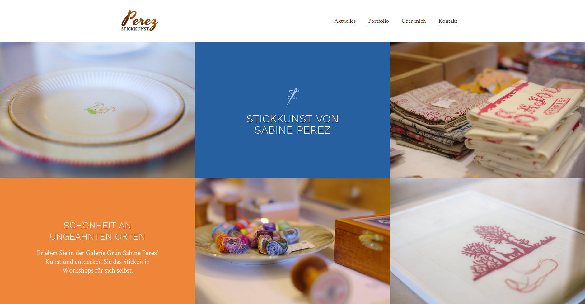 Website Showcase: Front page draft for Sabine Perez » Web Design · Communication · Storytelling » Brand Artery