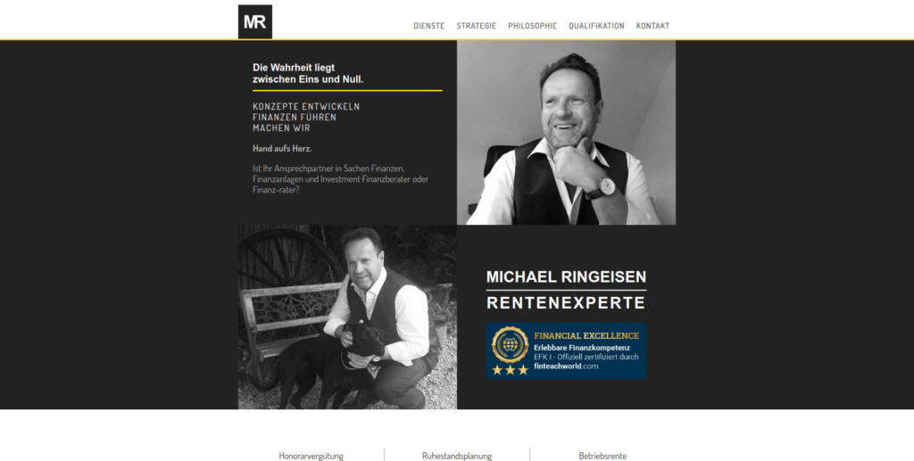 Website Showcase: Michael Ringeisen » Web Design · Communication · Storytelling » Brand Artery